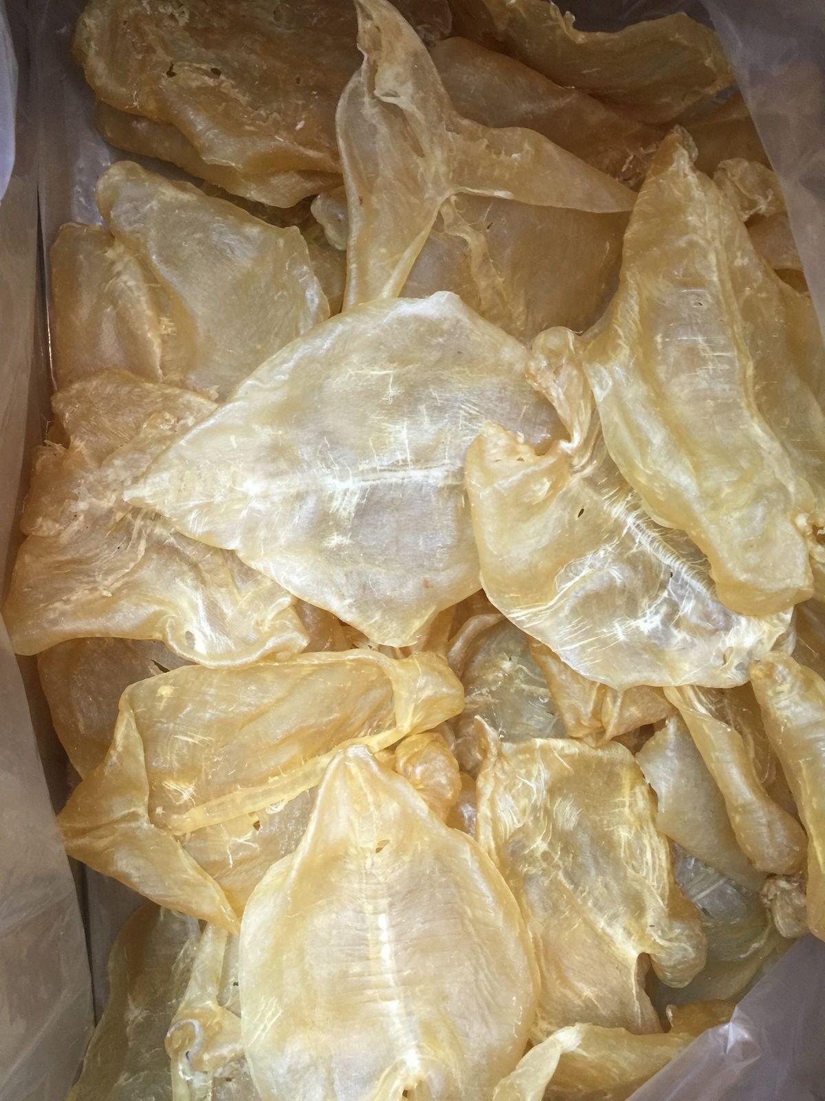 China Good Food Dried Seafood Opened Fish Maw / Hua Jiao 鴨巴膠 魚肚 Worldwide FREE AIRMAIL