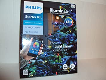 philips led illuminate 25 faceted c9 string light starter kit custom show - Philips C9 Led Christmas Lights