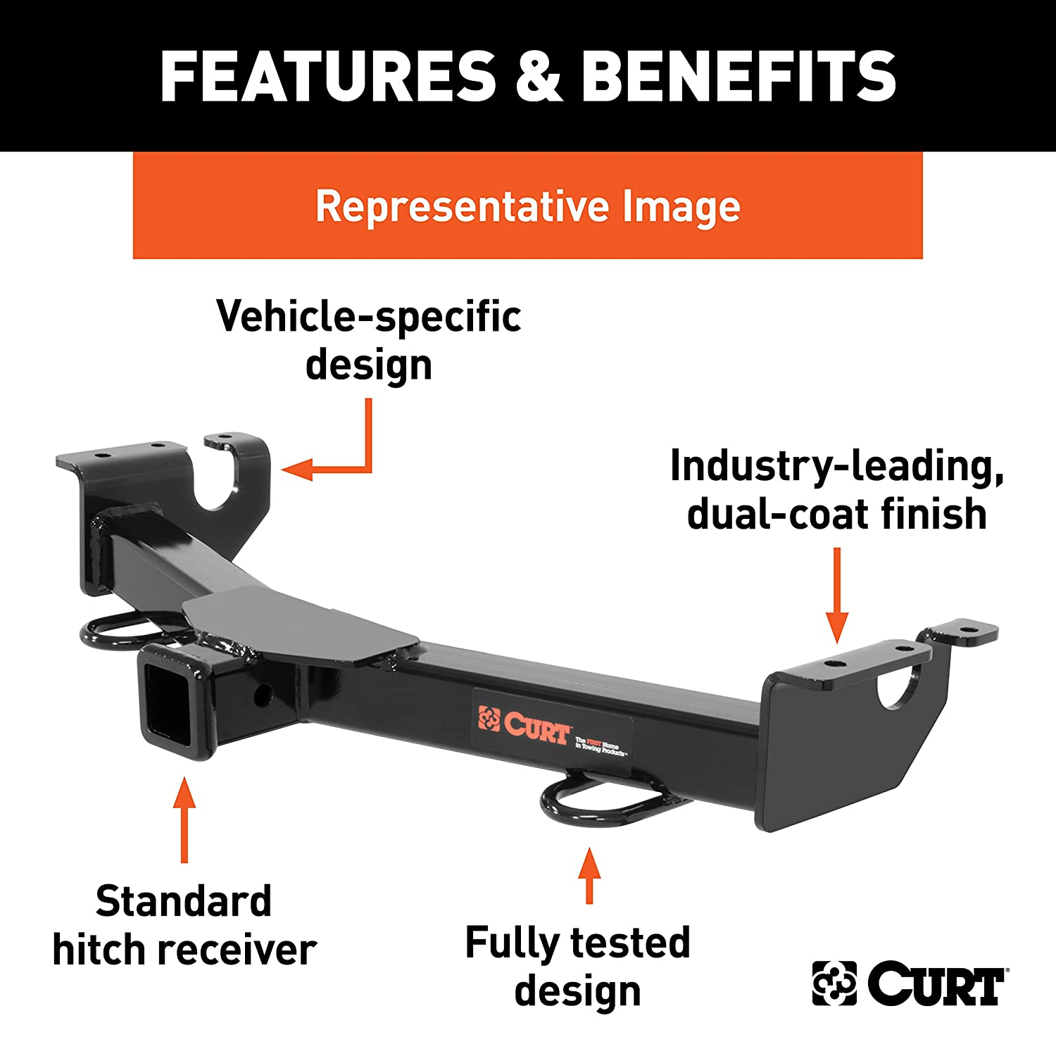 F-350 CURT 31311 Front Hitch with 2-Inch Receiver Fits Select Ford F-250
