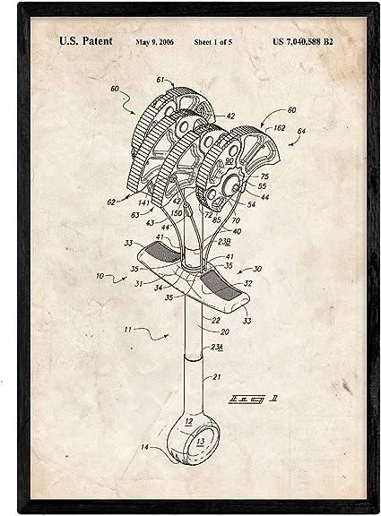 Nacnic Poster con Patente de Gri Escalada. Lámina con diseño ...