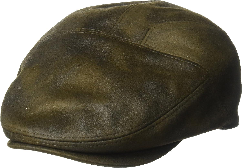 Henschel Men's Faux Ultra-Suede Leather New Shape Ivy Hat