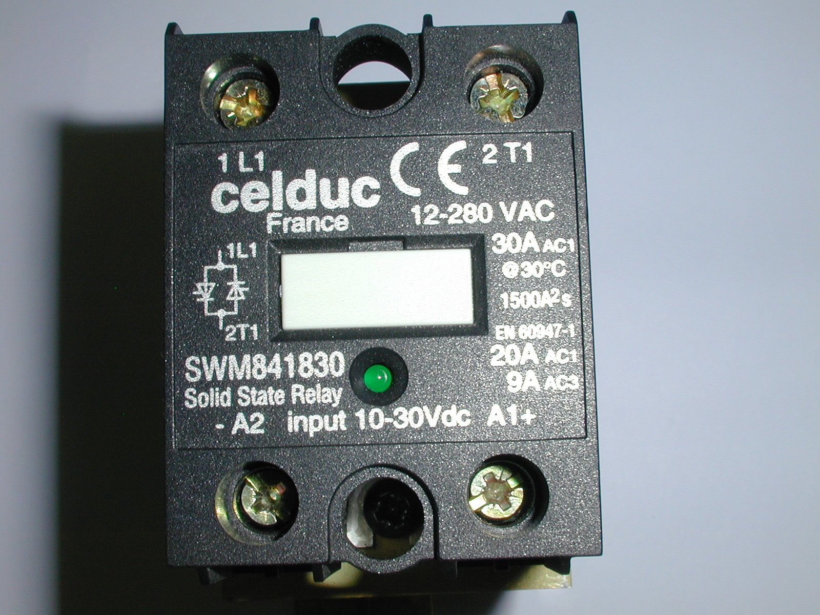 SWM841830 RELAY SINGLE PHASE WITH HEAT SINK (1 EACH) by CELDEC