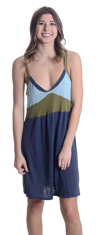 258029fa Women's Colorblock Linen Blend Slip Dress in Steel Blue at Amazon Women's  Clothing store: