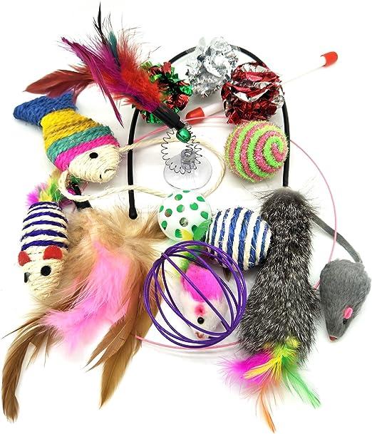 PietyPet Juguetes para Gatos, Juguetes para Mascotas Paquete de Variedad para Gatitos Kitty 13 Piezas: Amazon.es: Productos para mascotas
