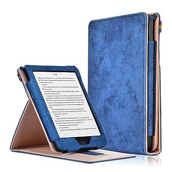 Kobo Clara HD Funda - Funda Carcasa Flip Vertical con Función de Despertador/Reposo Automático para Kobo Clara HD Pantalla Táctil Lectore de e-Book ...