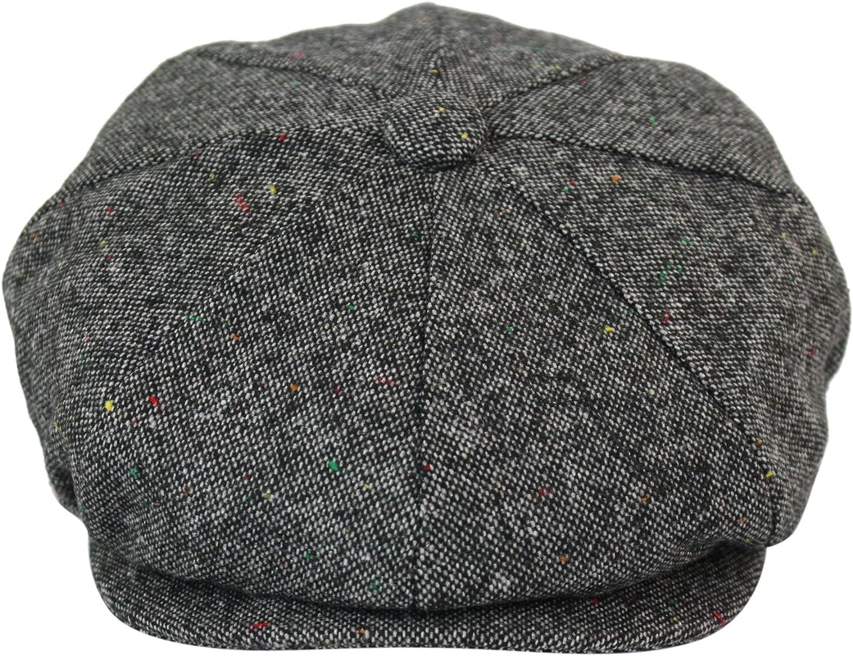 Casquette Tweed b/éret Style Peaky Blinders Grand p/ère Vintage pour Homme avec Carreaux et 8 Sections