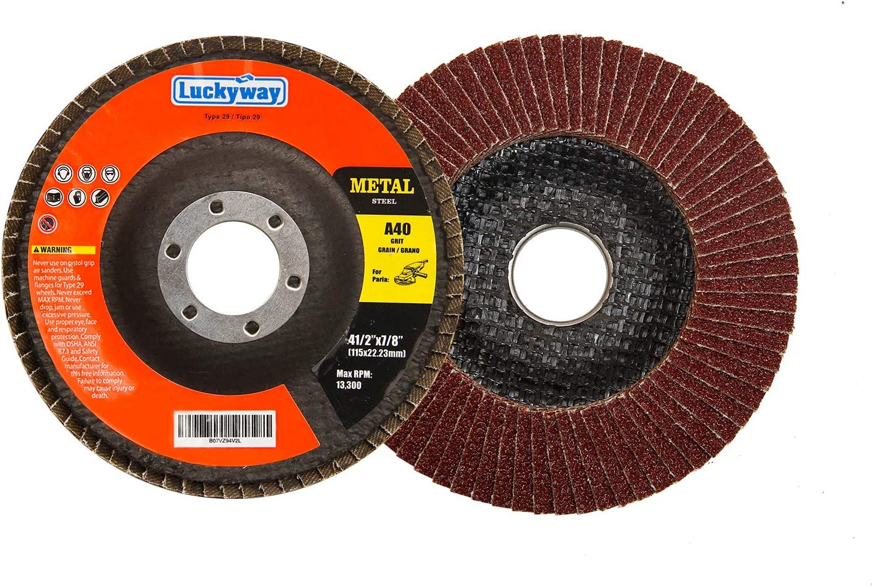 "Choose Your Grit 10 Discs 4/"" x 5//8/"" Flap Disc Type 27 AO"