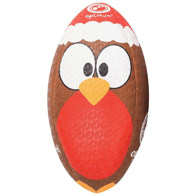 Optimum Men's Christmas Robin Rugby Ball