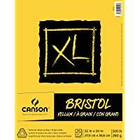 "Canson XL Series Bristol Vellum Paper Pad, Heavyweight Paper for Pencil, Vellum Finish, Fold Over, 11"" x 14"""