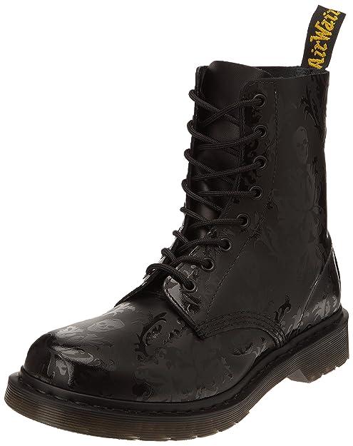 Dr. Martens CASSIDY Skull Print 14735601 - Botas fashion de cuero para mujer, Negro (Black Black), 35: Amazon.es: Zapatos y complementos