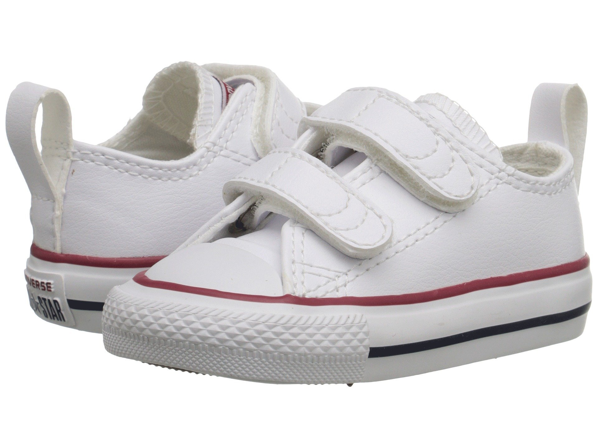 Converse Kids' Chuck Taylor All Star 2v Low Top Sneaker (4 M US Toddler, White Leather)