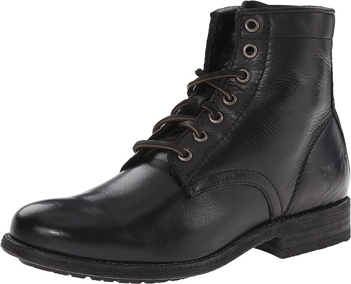 4a7a283a37 Amazon.com   FRYE Women's Tyler Lace Up-SVL Combat Boot, Black, 6.5 ...