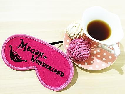 ComfortDecorHouse Wonderland Sleeping Eye Mask con Nombre, DE Regalo para Usted, Ojo de sueño