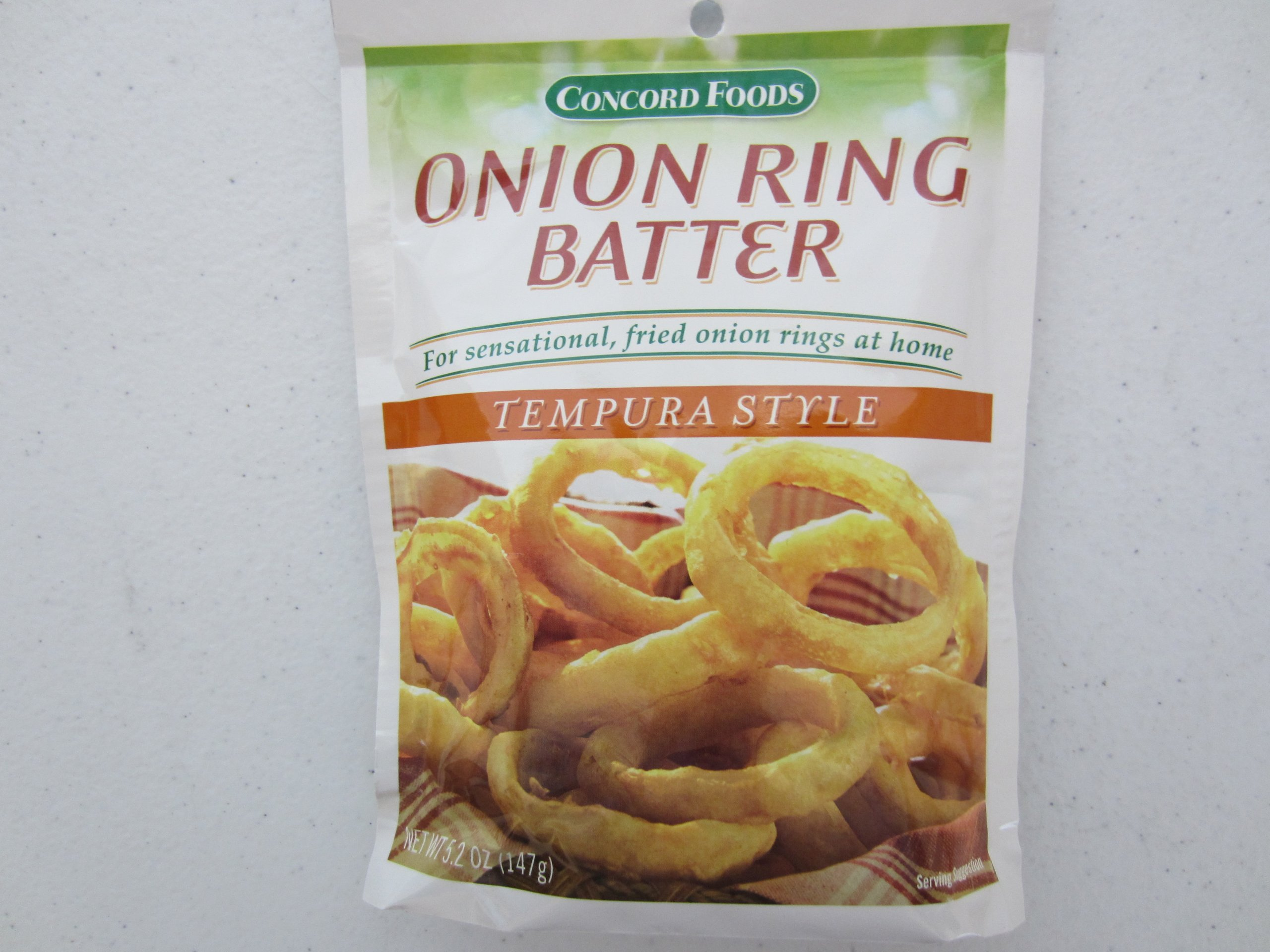 Concord Onion Ring Batter Mix, 5.2-Ounce Pouches (Pack of 18 )