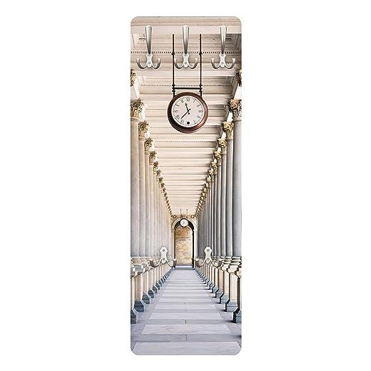 """PPS. Imaging Perchero con Dibujo de """"Columns in The Mill Colonnade"""", en Karlovy Vary, Delgado de 139 x 46 x 2 cm, Dimensiones:139 x 46 cm."""