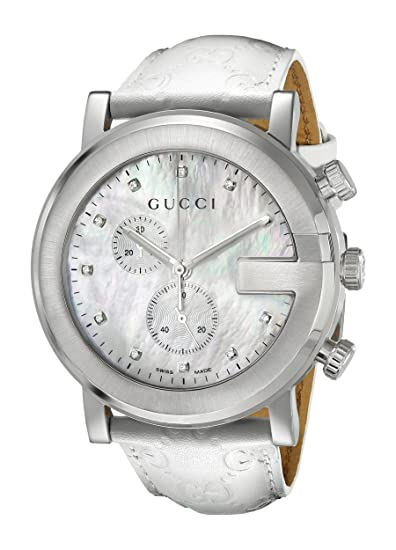df3811e38a5 Gucci Men s G Chrono Watch White YA101342  Gucci  Amazon.ca  Watches