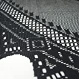 "DII 70"" Round Polyester Lace Tablecloth, Black"