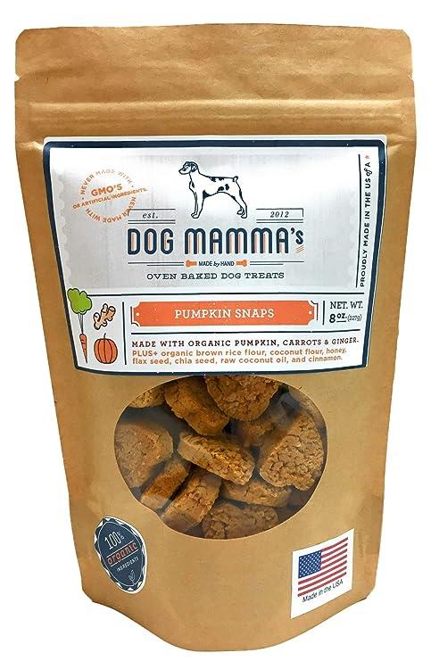 Amazon.com: Perro de la mamma Dog Treats Orgánica calabaza ...