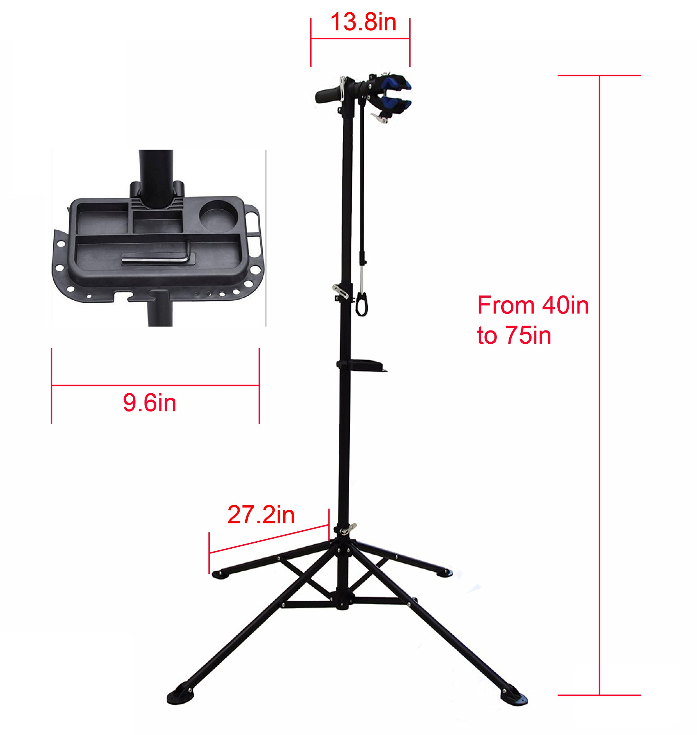 MaxxHaul 80725 Bike Repair Stand/Display with Adjustable Height & 360 Deg. Rotating Head Clamp by MaxxHaul (Image #9)