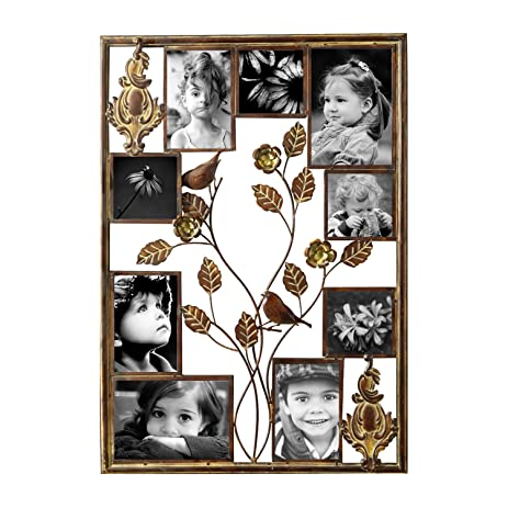Amazon.com - Brown Black Decorative Collage Bronze Iron Metal Wall ...