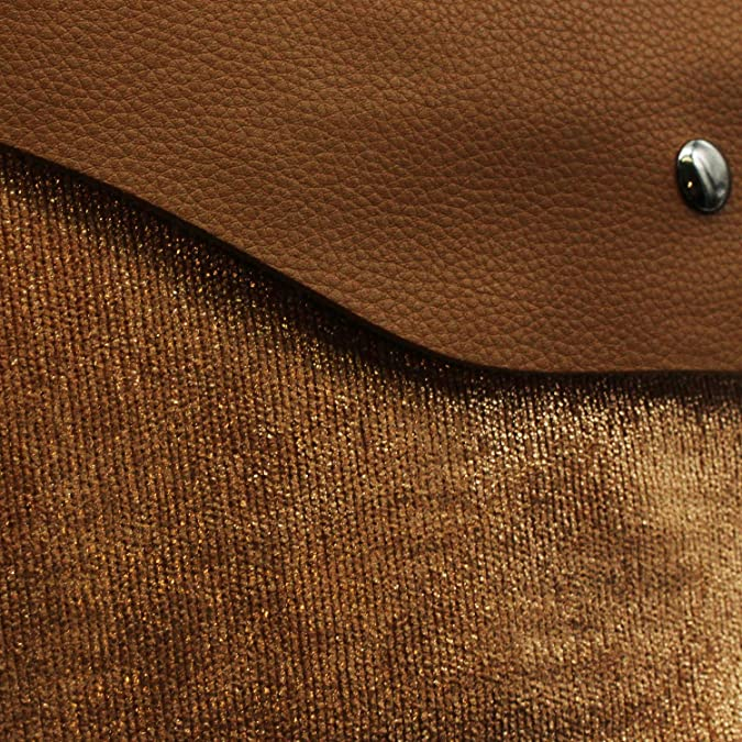 """6 22/"""" x 22/"""" Nutmeg Jumbo Cord with Brown Faux Leather Cushion Covers"""