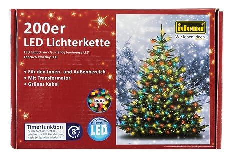 Idena LED Lichterkette 200er, Ca. 27,90 M, Für Innen/außen