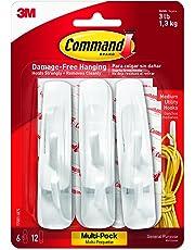Command 17001-VP-6PK Medium Hooks Value Pack - White