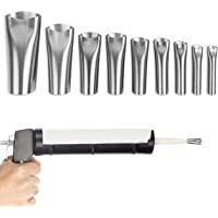 Roestvrijstalen mondstukken voor siliconenpistoolpatroon, Ø 5-20 mm werkingsmaat, kleefmiddel en afdichtingsgereedschap…