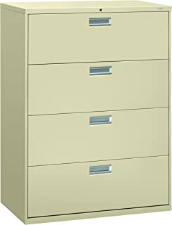 product image for HON 694LL 600 Series 42-Inch by 19-1/4-Inch 4-Drawer Lateral File, Putty