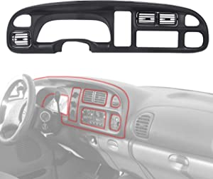 ECOTRIC Dash Board Bezel Cover Instrument with Vents Compatible with 98-02 Dodge Ram 1500 2500 3500