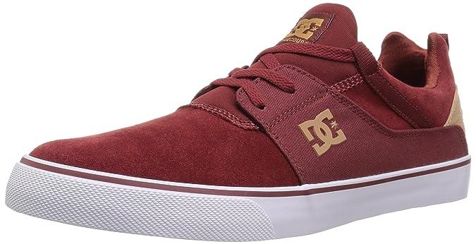 Kids US 12.5, Red DC Burgundy-Tan Trase Kids Shoe