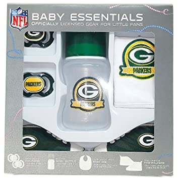 timeless design b129d 6bc94 Amazon.com: Green Bay Packers Baby Essentials 5 Piece ...