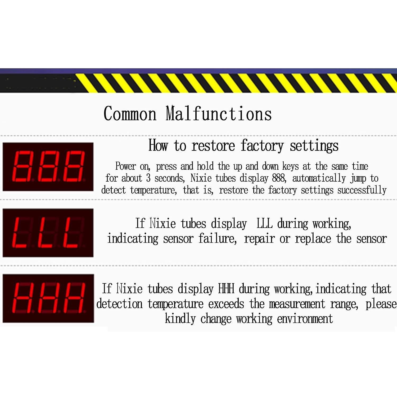 Haljia Xh-w3002/DC 24/V Digital contr/ôleur de temp/érature XH W3002/Thermostat avec sonde 1/m /étanche Chauffage ou refroidissement 0,1/℃ Pr/écision