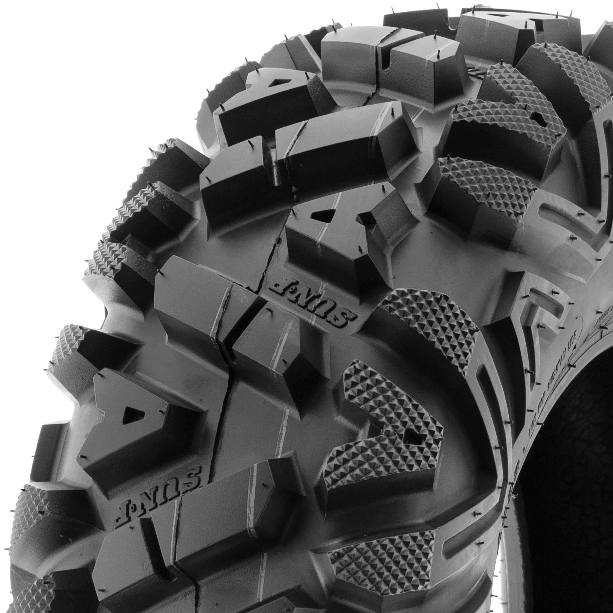 Set of 4 SunF Power.I ATV/UTV AT all-terrain Tires 24x8-11 Front & 24x11-10 Rear, 6 PR, Tubeless A033 by SUNF (Image #7)