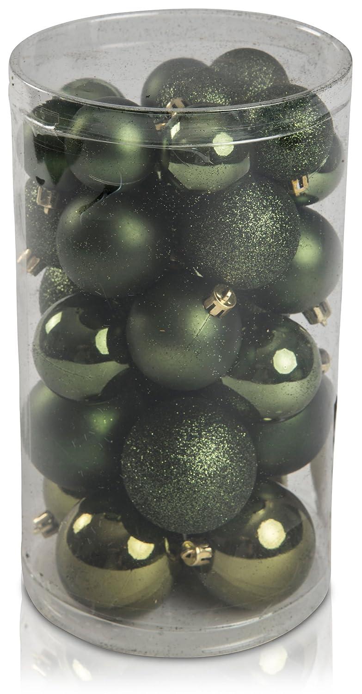 30 Set Weihnachtskugeln Baumwolle 6cm 5cm 4cm Christbaumschmuck