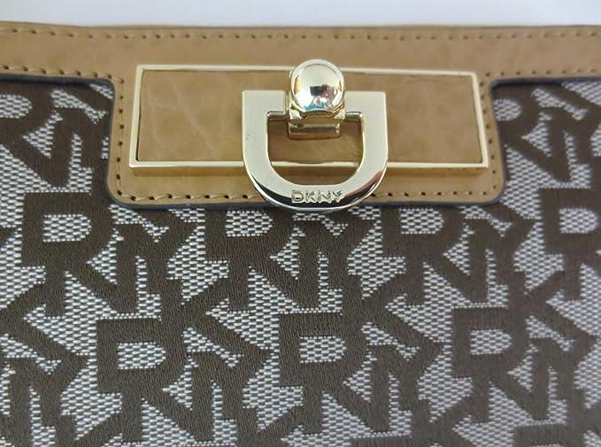 DKNY Donna Karan - Monedero para mujer beige marrón DKNY Logo Design: Amazon.es: Bebé
