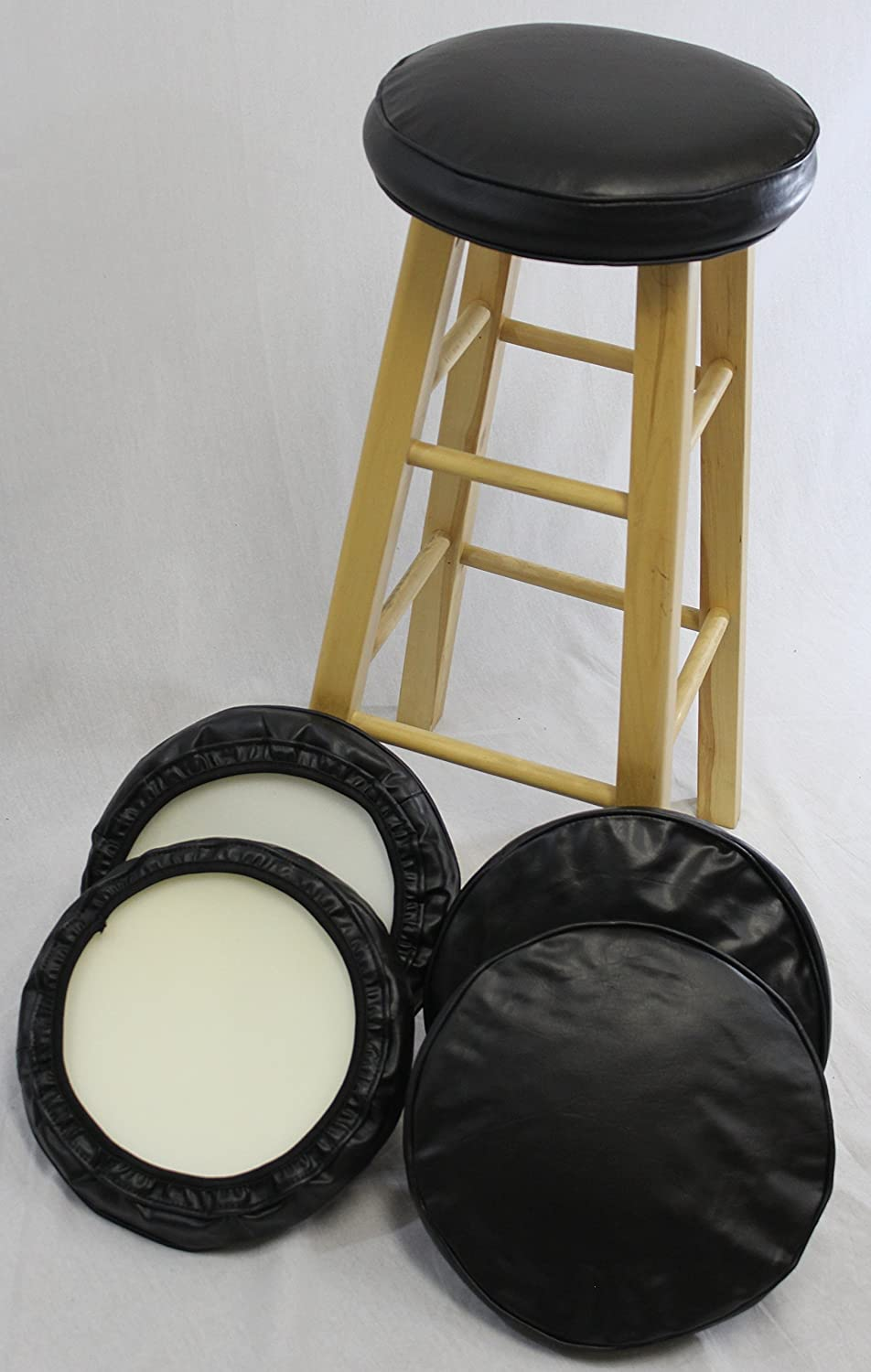 eHemco Bar Stool Cover With Foam Set of 4 : kitchen stool covers - islam-shia.org