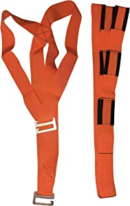 Lifting and Moving Straps, Set of Straps for 2, Orange, Shoulder Strap, Furniture Mover, Appliance Mover, Lift and Move Heavy Bulky Objects Safely, Efficiently. OneLina