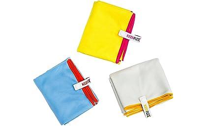 KeenFlex - Toalla de Microfibra para deporte y actividades al aire libre, tecnología de secado