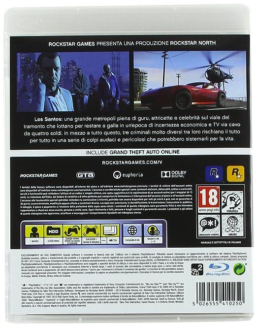 Amazon com: SONY GTA: GRAND THEFT AUTO V PS3: Video Games