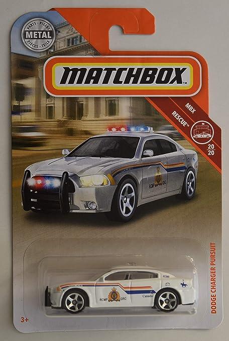 Dodge Charger Pursuit >> Amazon Com Matchbox Rescue Series Dodge Charger Pursuit 20