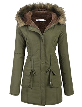 Amazon.com: Meaneor Womens Hooded Warm Winter Faux Fur Lined