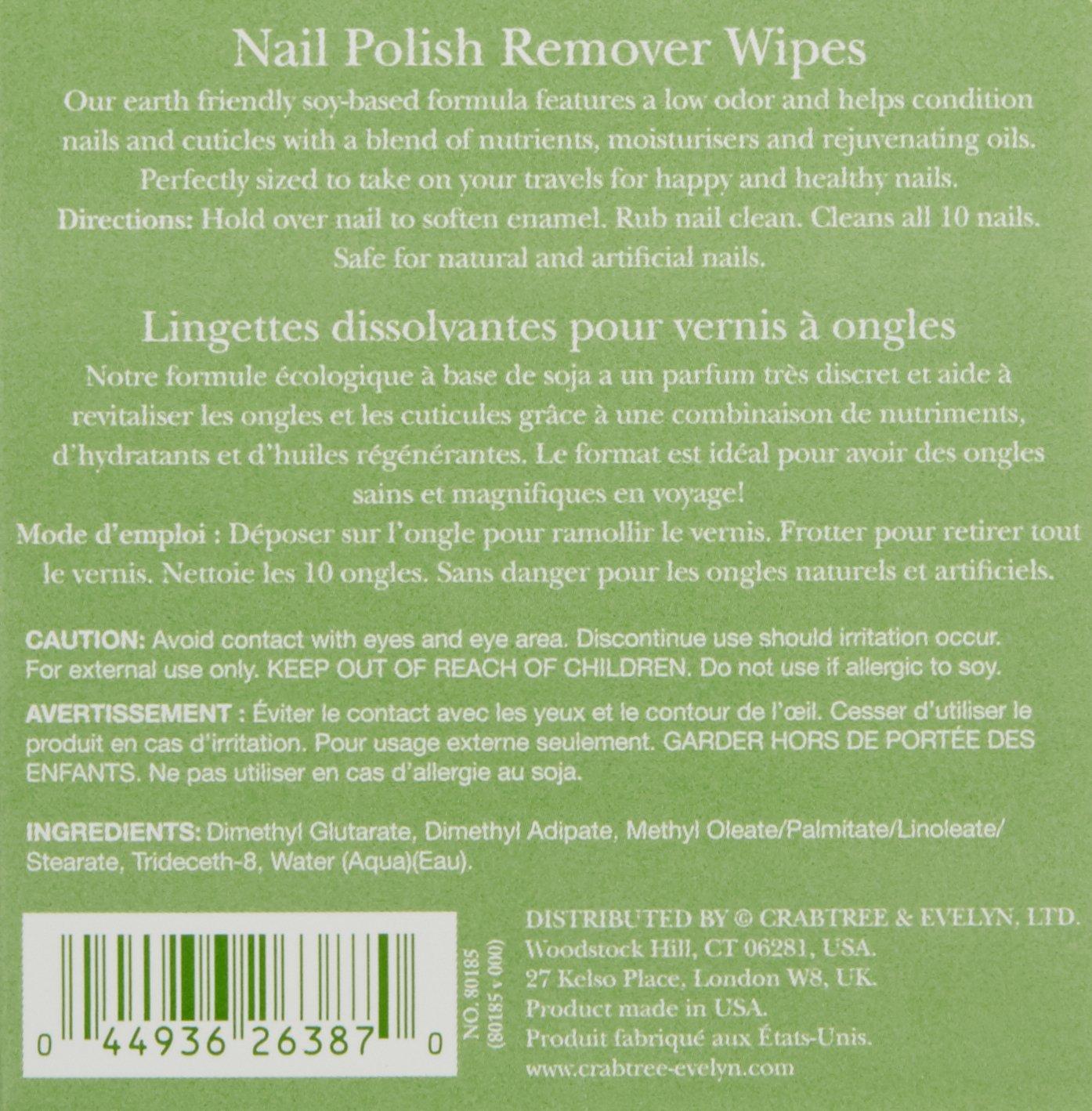 Amazon.com: Crabtree & Evelyn Nail Polish Remover Wipes: Luxury Beauty