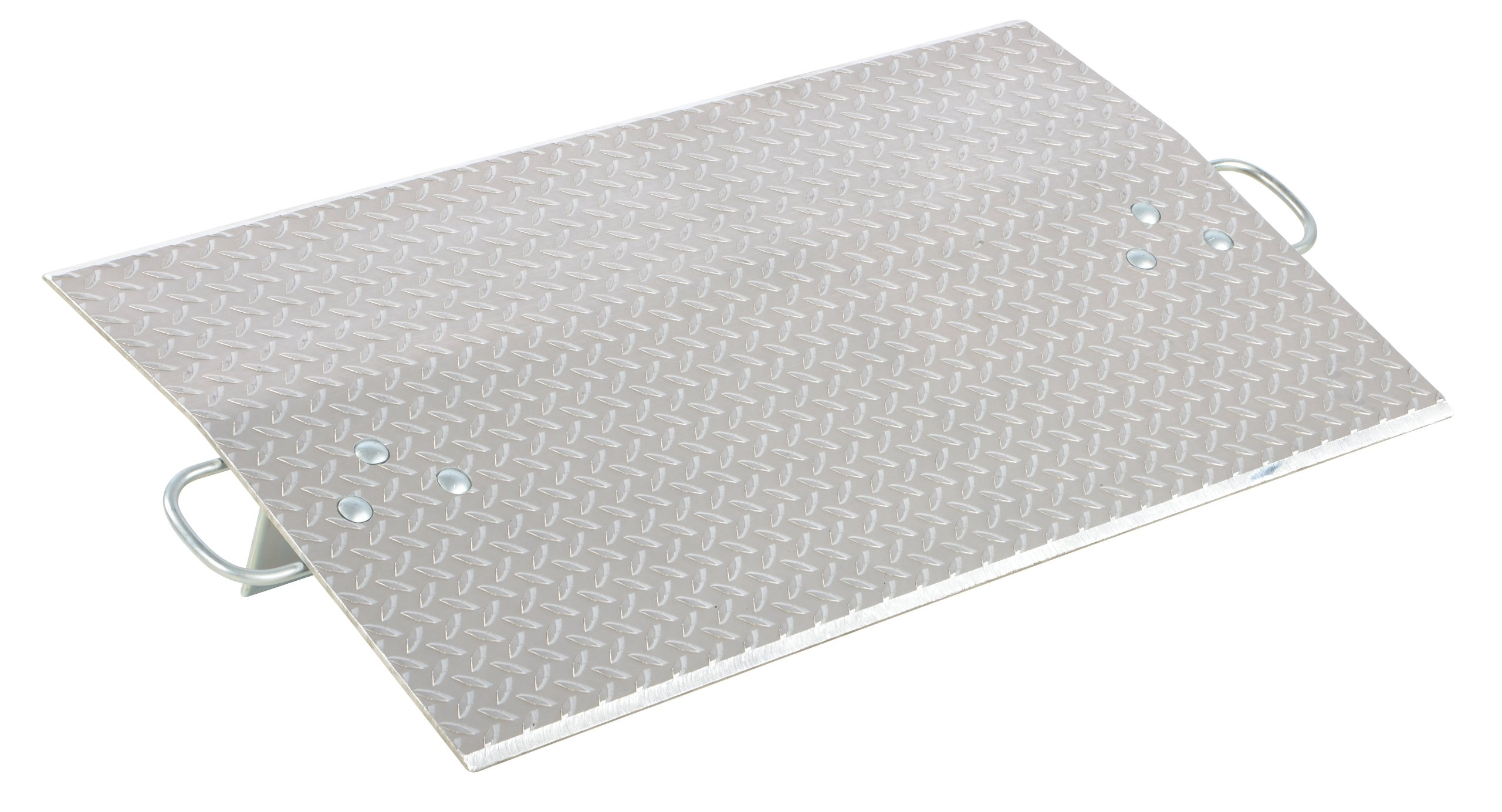 Vestil E-3624 Aluminum Economizer Dock Plate, 3,600-lb. Capacity, 24'' Length, 36'' Usable Width, 3'' Height Difference, 3/8'' Plate Thickness
