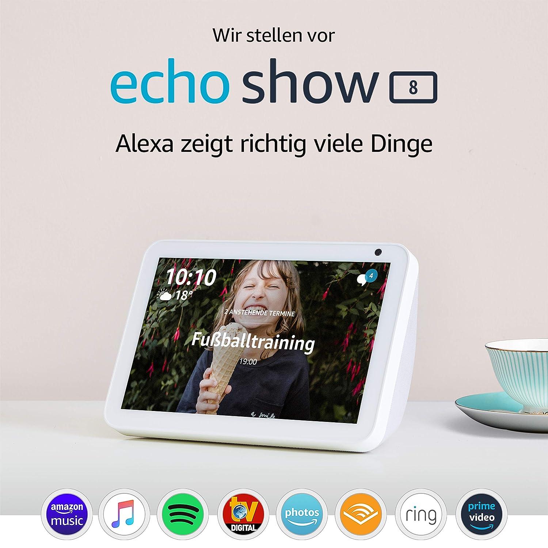 Echo Show 8 | Smart Display mit 8 Zoll großem HD-Bildschirm und Alexa