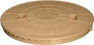 Pentair 516216 Tan Deck Lid Replacement Bermuda Gunite and Vinyl Liner Skimmer