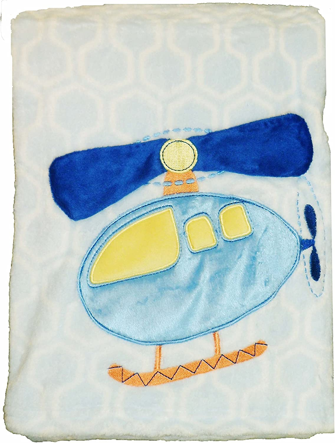 Supersoft Superior Quality Luxurious Blue Helicopter Pram//Crib Blanket