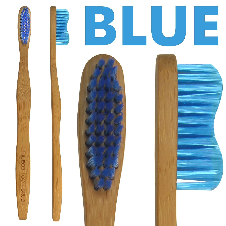 El Eco-Toothbrush con cerdas medianas - cepillo de dientes para adultos de bambú natural - Cuidado dental ecológico para niños - Cepillos de dientes ...