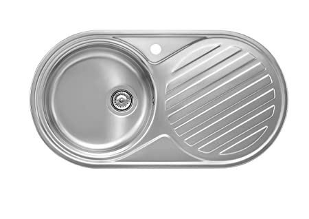 Roca Duo-80 A870930845 Kitchen Sink Stainless Steel Inset with ...