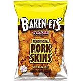 Baken-ets Traditional Fried Pork Skins (Chicharrones), 3 oz Bag